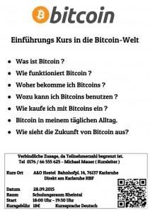 [DE]-Flyer - Einführung in die Bitcoin Welt