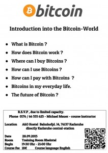 [EN]-Flyer - Introduction into the Bitcoin World